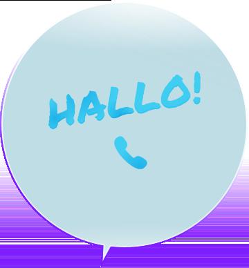 Illustration, Hallo per Telefon