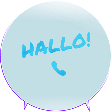 Illustration, Hallo per Telefon